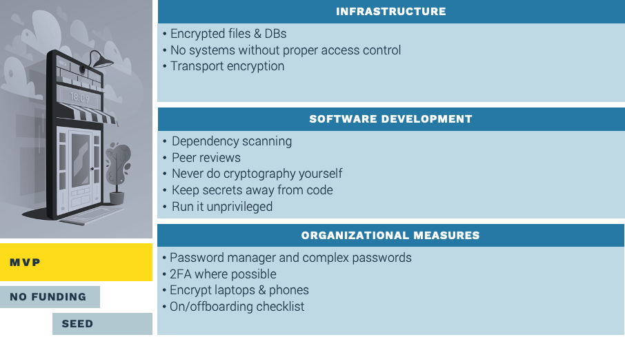 cybersecurity measures in MVP phase